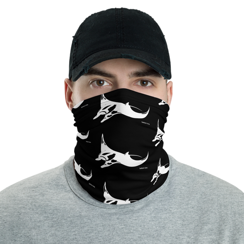 Manta Ray Neck Gaiter (black)