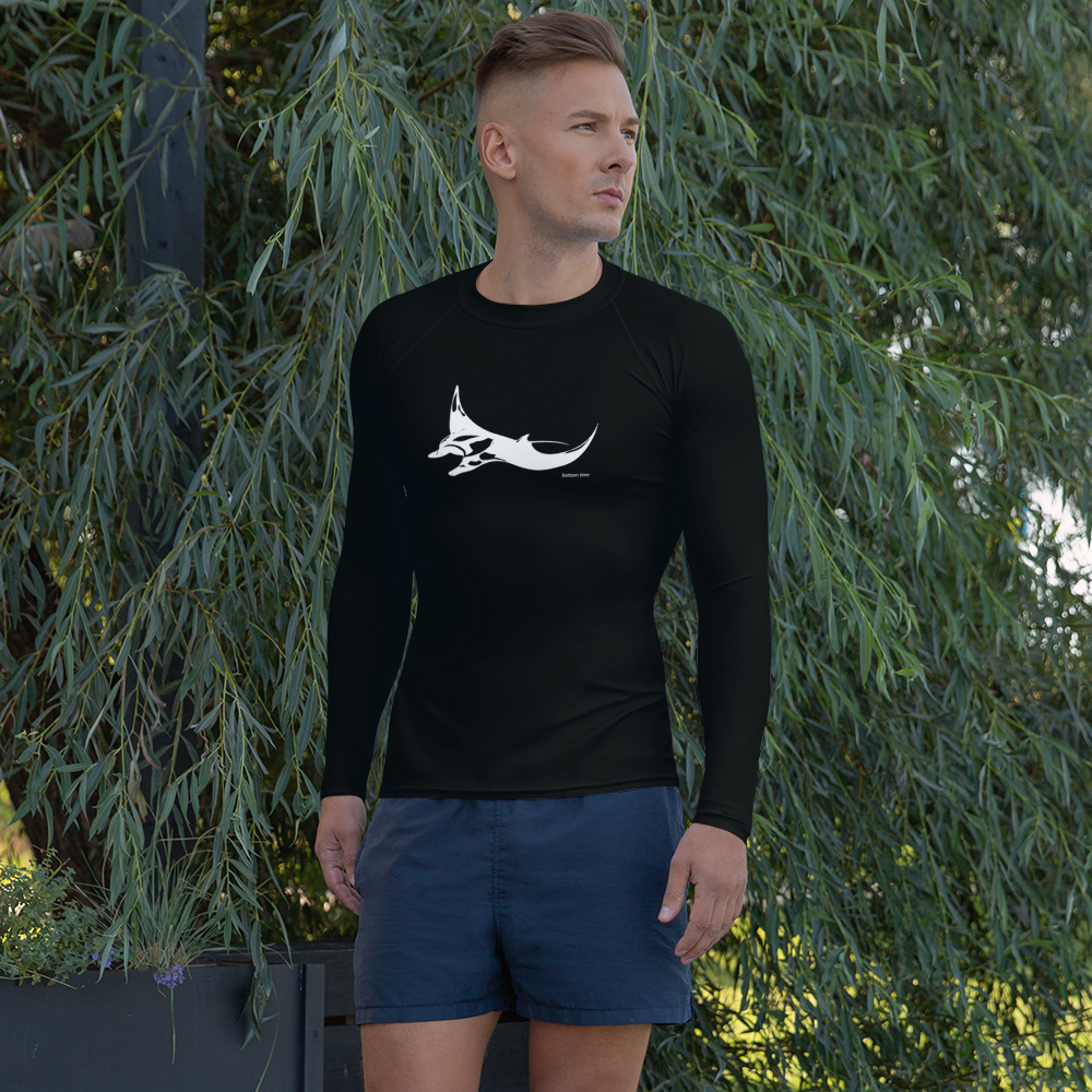 Men's Manta Ray Rash Guard Black