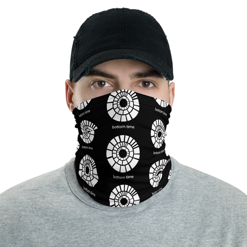 Bottom Time Logo Neck Gaiter (black)