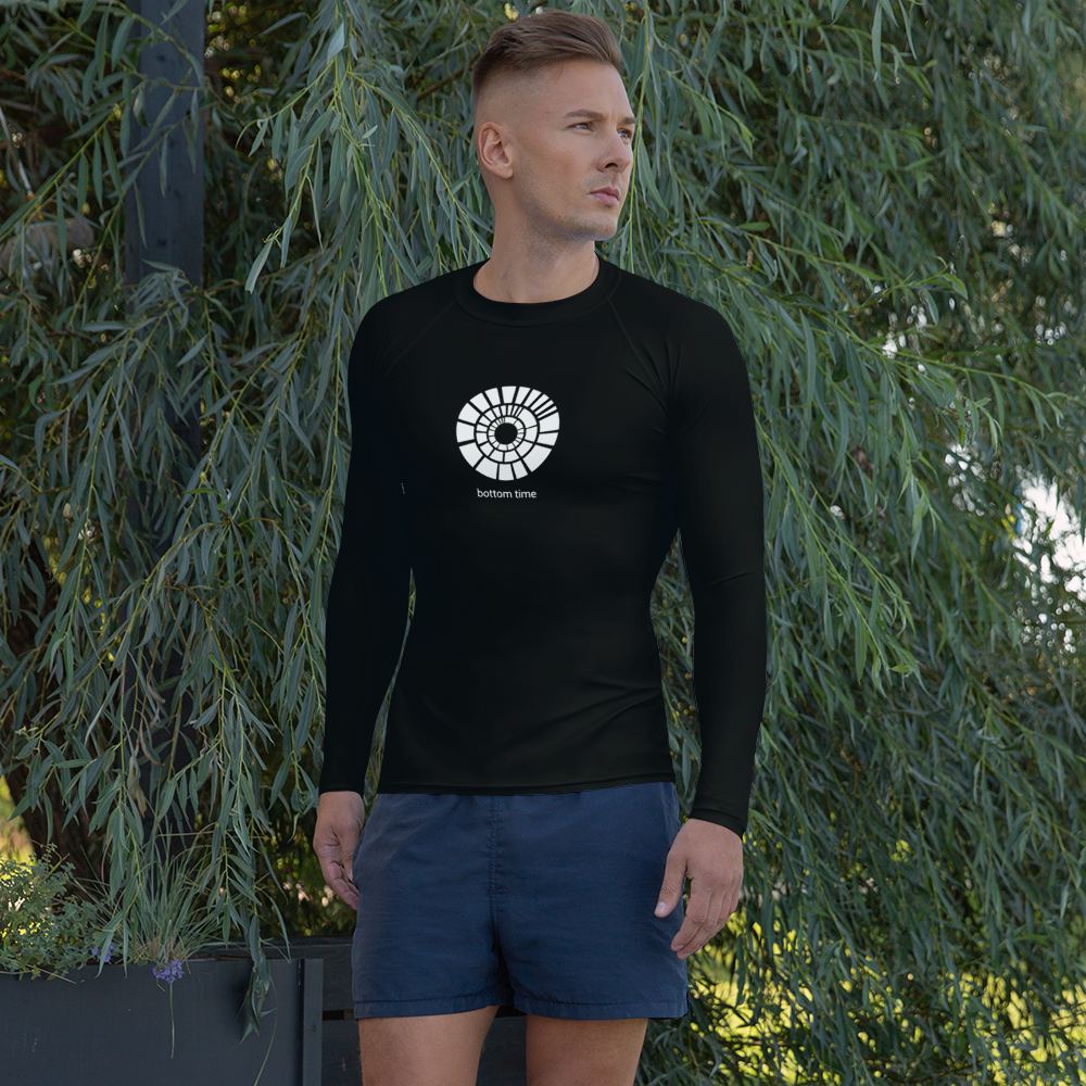 Men's Logo Rash Guard Black