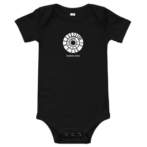 White Bottom Time Logo Baby Suit