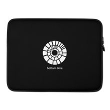 Load image into Gallery viewer, Bottom Time Laptop Sleeve White on Black
