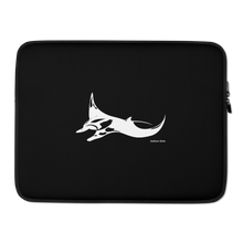 Load image into Gallery viewer, Manta Ray Laptop Sleeve White On Black