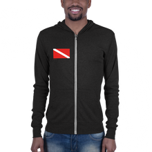 Load image into Gallery viewer, Classic dive flag Unisex zip hoodie