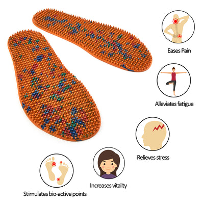 ACUPUNCTURE INSOLES FOR FOOT MASSAGE AND SPECIAL THERAPY MEN (LARGE)