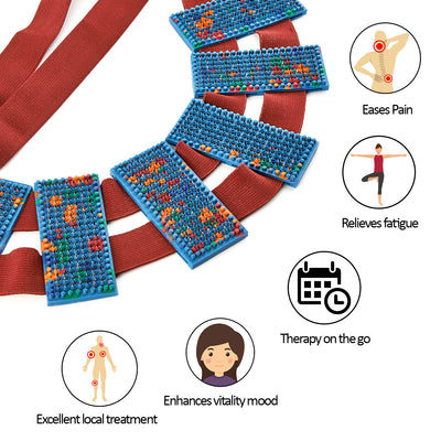 Acupressure belt for back pain and other Lyapko acupressure devices