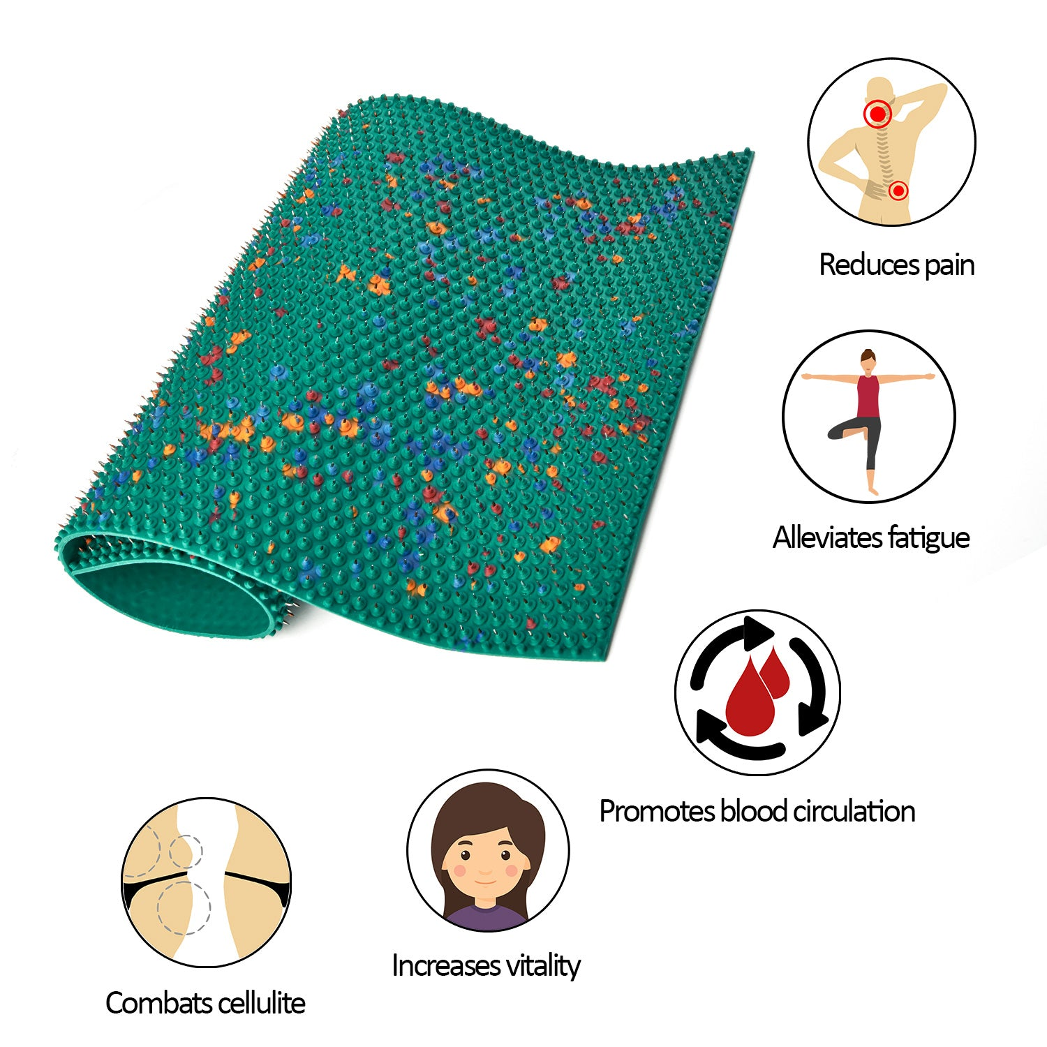 bag your detail spike product colorful acupuncture plastic eastony with spikes carry massage mat