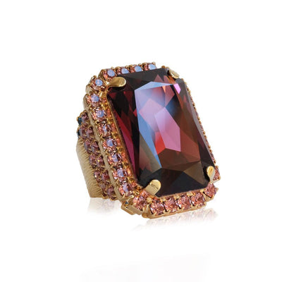 Alexa Cocktail Ring / Burgundy
