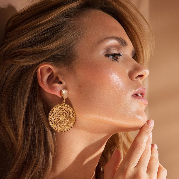 Alexandra Earrings / Silk