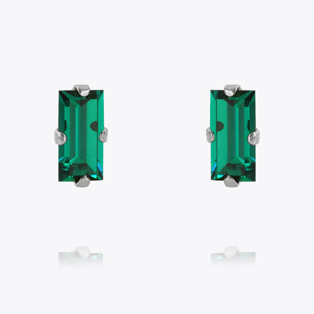 Baguette Earrings / Emerald