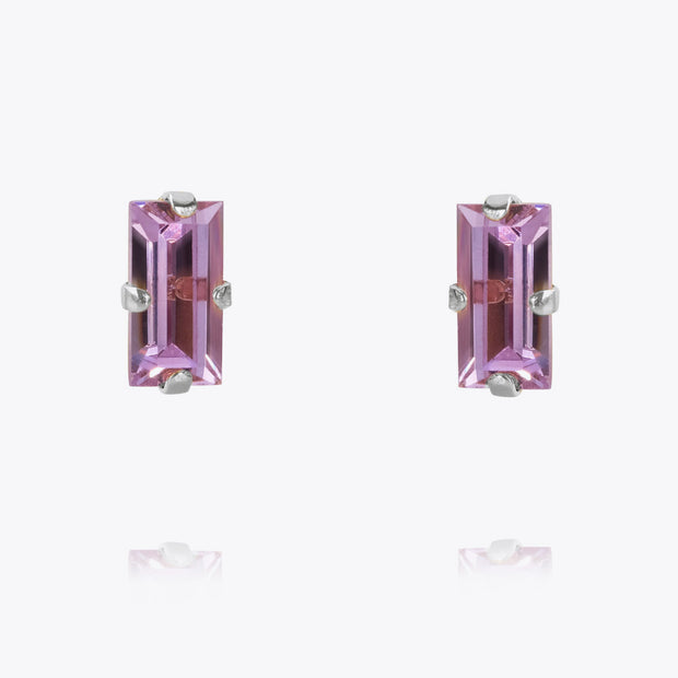 Baguette Earrings / Violet