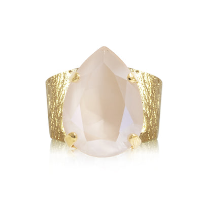 18k gold plated Ring with swarovski crystals