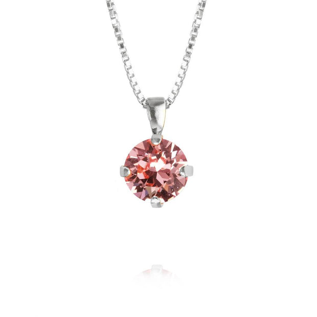 Rhodium plated Necklace with swarovski crystals
