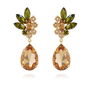 Caroline Svedbom - Nike Earrings Olivine + Light Peach + Light Colorado Topaz Gold
