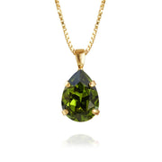 Caroline Svedbom - Mini Drop Necklace Olivine Gold