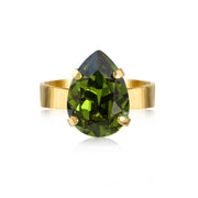 Caroline Svedbom - Mini Drop Ring Olivine Gold