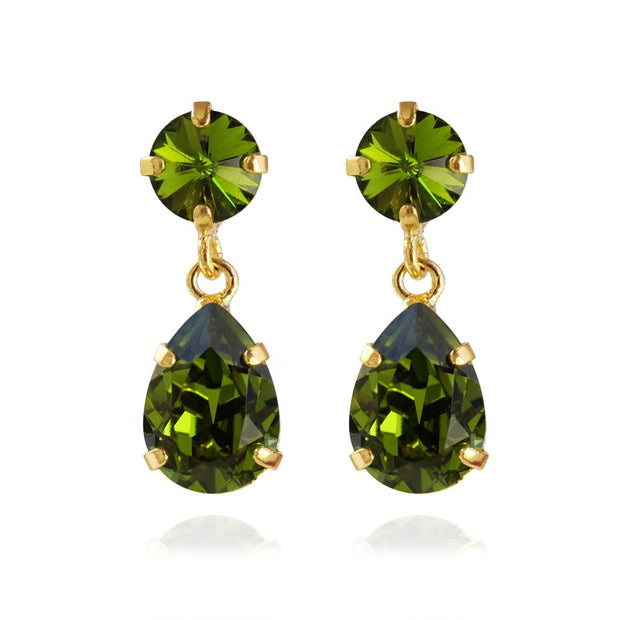 Caroline Svedbom - Mini Drop Earrings Olivine Gold