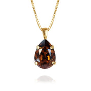 Caroline Svedbom - Mini Drop Necklace Smoked Topaz Gold