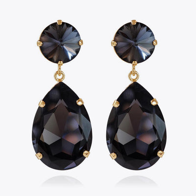 Caroline Svedbom - Perfect Drop Earrings Graphite Gold