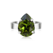 Caroline Svedbom - Mini Drop Ring Olivine Rhodium