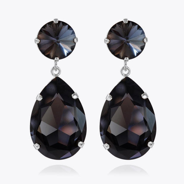 Caroline Svedbom - Perfect Drop Earrings Graphite Rhodium