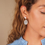Chloe Earrings / Crystal + CAL