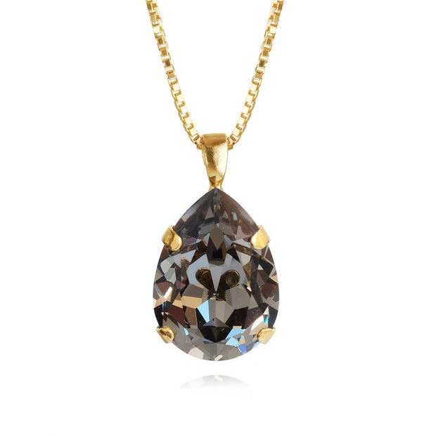 Classic Drop Necklace / Black Diamond