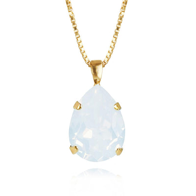 Classic Drop Necklace / White Opal