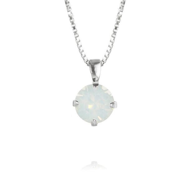 Classic Petite Necklace / White Opal