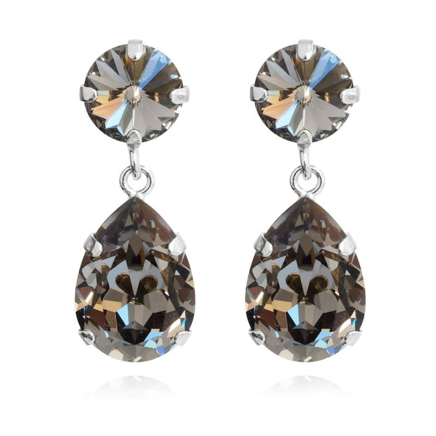 Rhodium plated Earrings with swarovski crystals