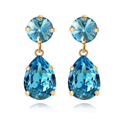 Caroline Svedbom - Classic Drop Earrings Light Turquoise Gold