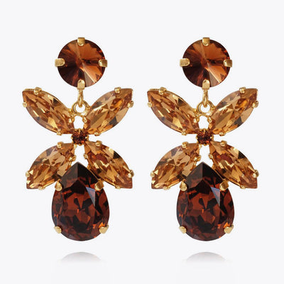 Dione Earrings / Smoked Topaz + Light Colorado