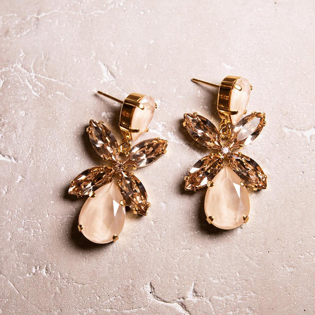 Dione Earrings / Ivory Cream + Silk
