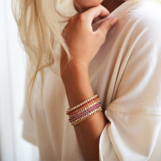 Eya Stretch Bracelet / Vintage Rose