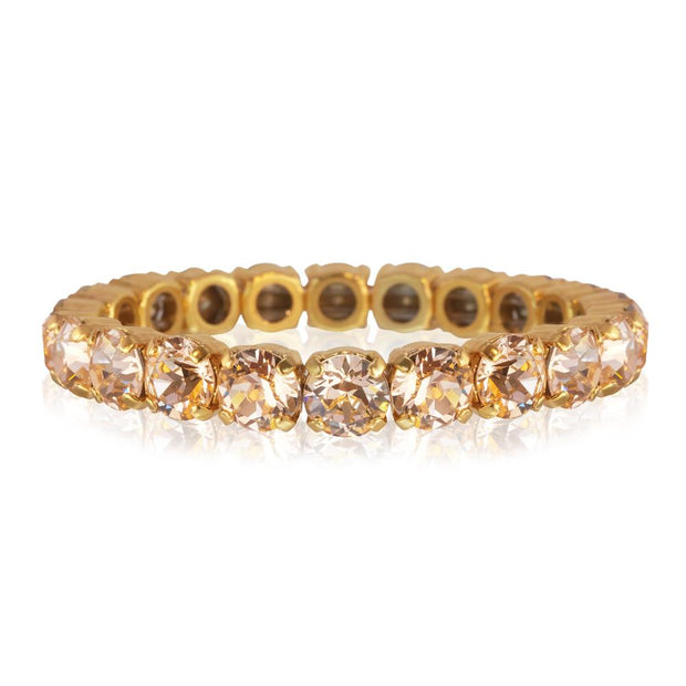 18K Gold plated stretch bracelet with swarovski crystals
