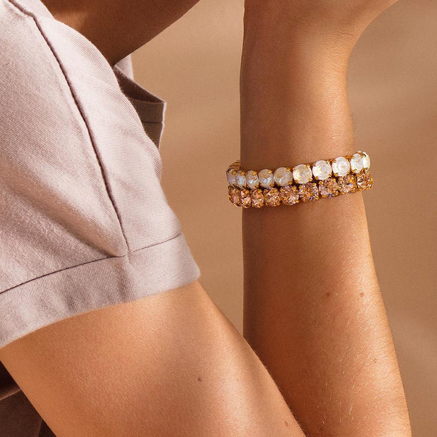Gia Stretch Bracelet / Light Peach