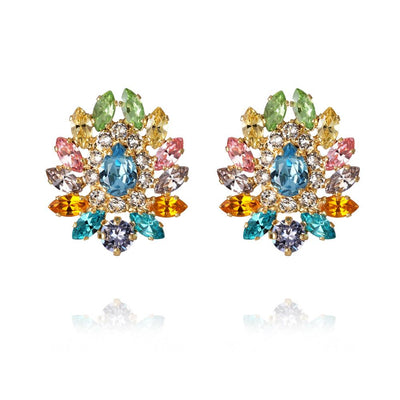 Caroline Svedbom - Iro Earrings Rainbow Combo Gold