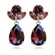 Isadora Earrings / Burgundy