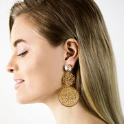 Maxime Earrings / Crystal