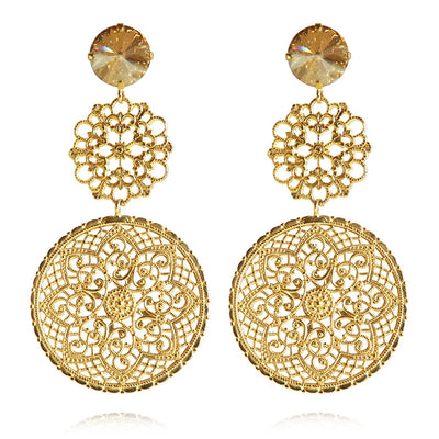Maxime Earrings / Golden Shadow