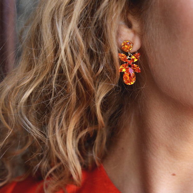 Mini Dione Earrings / Tangerine