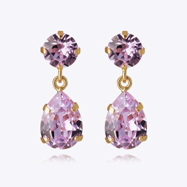Mini Drop Earrings / Violet