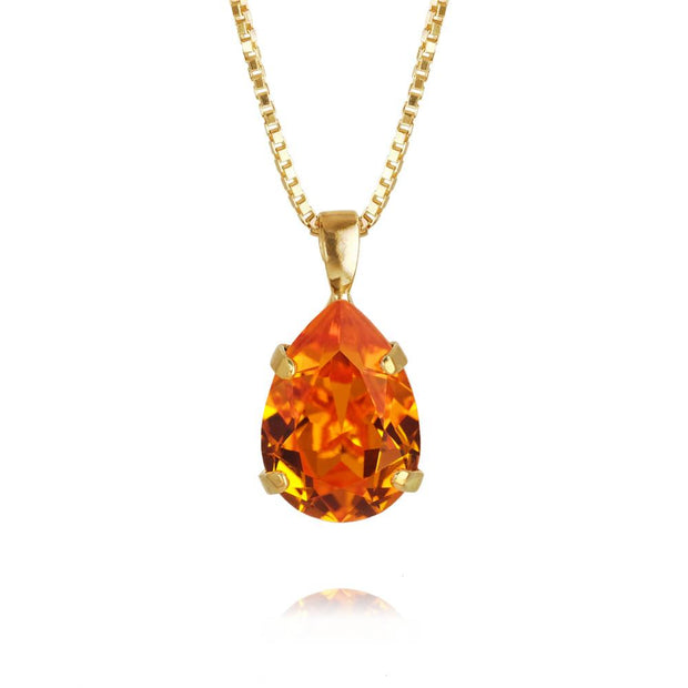 18k gold plated Necklace with swarovski crystals