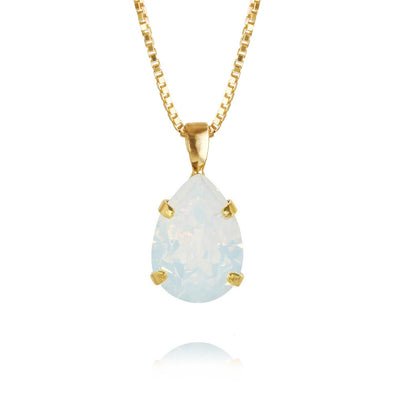 Mini Drop Necklace / White Opal