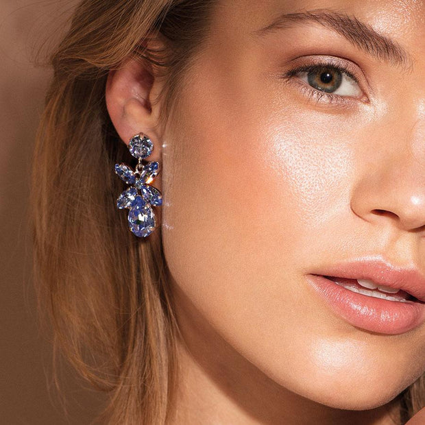 Mini Dione Earrings / Light Sapphire