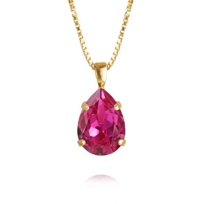 Caroline Svedbom - Mini Drop Necklace Fuchsia Gold