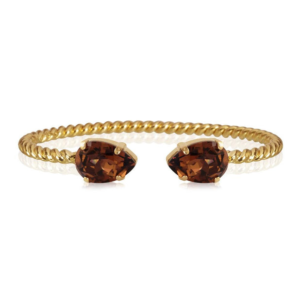 Caroline Svedbom -Mini Drop Bracelet Smoked Topaz Gold
