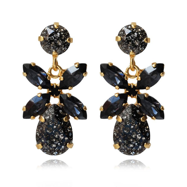 18k gold plated Statement Earrings with swarovski crystals