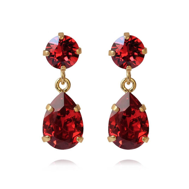 Caroline Svedbom - Mini Drop Earrings Scarlet Gold