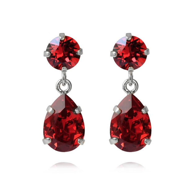 Caroline Svedbom - Mini Drop Earrings Scarlet Rhodium